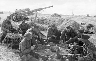 8.8 cm Flak 18/36/37/41 - 88 with crew, France, 1944