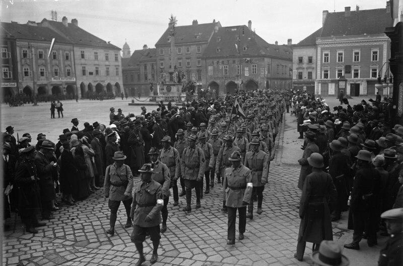 Bundesarchiv Bild 102-00842A, Wiener Neustadt, Aufmarsch der Heimwehren
