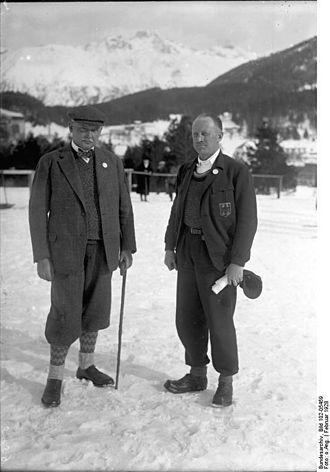 Carl Diem - Lewald and Diem in St. Moritz, 1928