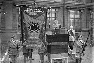 Reichsbanner Schwarz-Rot-Gold - Meeting in 1929