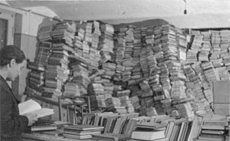 Reichsleiter Rosenberg Taskforce - Looted Books in Riga, November 1943