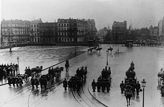 Lille - German military parade in Lille, 1915