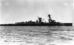 German cruiser Deutschland - Deutschland in 1933