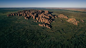 Bungle Bungle Range - Aerial view of the Bungle Bungle range, May 2016.