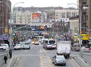 Burnside Avenue (IRT Jerome Avenue Line) - View of the station from the east