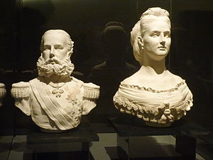 Museo Soumaya - Bust of Maximiliano I of Mexico and Carlota of Mexico.