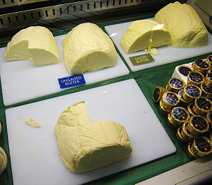 Butter - Butter displayed in a market