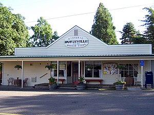 Butteville, Oregon - The historic Butteville Store, established in 1863