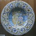 C.sf., castelli, francesco grue, piatto con allegoria della geometria, 1650-1660.JPG