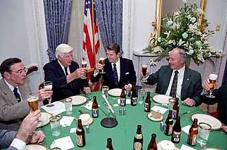 Edward Boland - President Ronald Reagan attending a St. Patrick's Day luncheon hosted by Speaker Tip O'Neill, House Minority Leader Robert H. Michel, and Boland