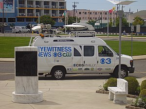 KYW-TV - CBS Philadelphia van in the Wildwoods of New Jersey