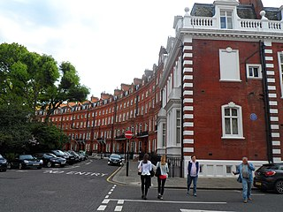 Garden square in Knightsbridge in the Royal Borough of Kensington and Chelsea
