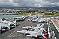 CVW-2 aircraft on USS Ronald Reagan (CVN-76) in June 2014.JPG