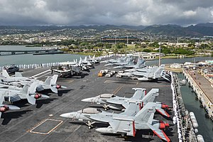 Carrier Air Wing Two - Image: CVW 2 aircraft on USS Ronald Reagan (CVN 76) in June 2014