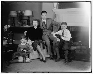 George C. Lodge - Lodge and family