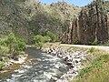 Cache la Poudre River in Poudre Canyon high walls.JPG