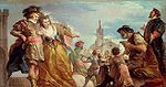Cades, Giuseppe - The Meeting of Gautier, Count of Antwerp, and his Daughter, Violante - c. 1787.jpg