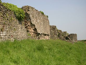 History of Wales - Roman Walls at Caerwent (Venta Silurum), erected c. 350.
