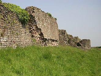 History of Wales - Roman Walls at Caerwent (Venta Silurum), erected c. 350.