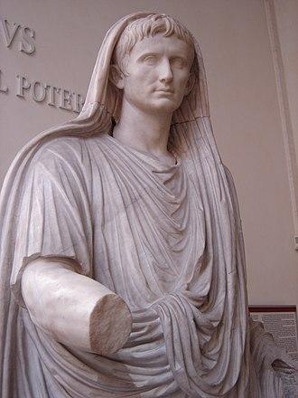 Via Labicana Augustus - The Via Labicana statue of Augustus, closeup.