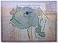 Caldern Burgruine Infotafel Abriß von den Deutsch-Ordens-Waldungen 1700.jpg