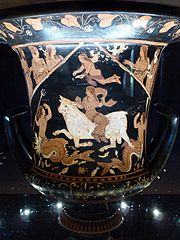 Calyx krater with Rape of Europa