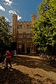 Cambridge - Trinity Street - View West on the Great Gate of Trinity College early 17th century.jpg
