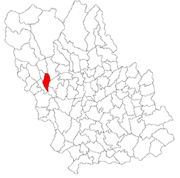 Location in Prahova County