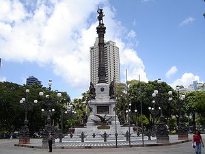 Salvador, Bahia - Monument dedicated to the heroes of the battles of Bahia's independence from Portugal in the Campo Grande Square