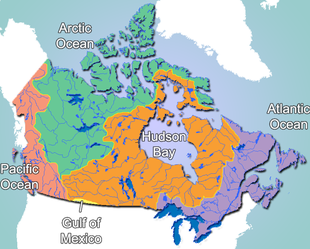 Oceans Around Canada Map Geography of Canada   Wikipedia