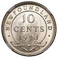 Canada Newfoundland George VI 10 Cents 1941C (rev).jpg