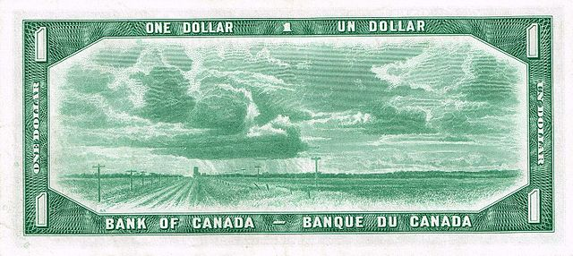 Old Canadian Dollar By Bank of Canada (E-Bay) [Public domain], via Wikimedia Commons