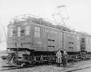 CN Boxcab Electric - Image: Canadian Northern Railway electric locomotive no. 602... La locomotive électrique no 602 de la société Canadian Northern Railway... (18988509200)