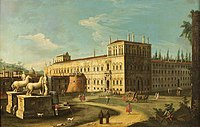 Canaletto (1697-1768) (imitator of) - Monte Cavallo and the Quirinal Palace, Rome - 609056 - National Trust.jpg