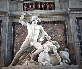 Theseus defeats the centaur