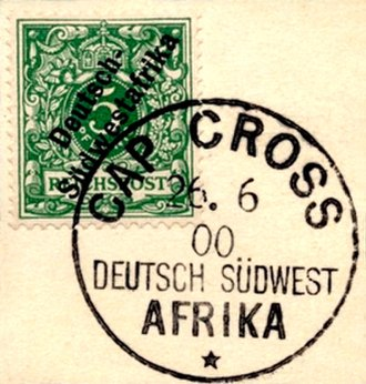 Cape Cross - Stamps for German South West Africa postmarked Cap Cross 1900