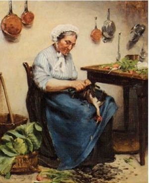 Louis Capdevielle - Plucking a Chicken