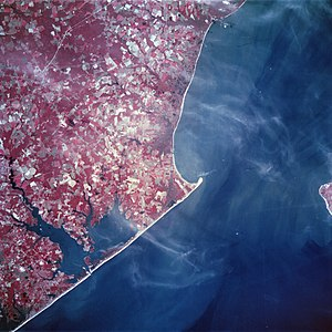 Cape Henlopen - Cape Henlopen from space, October 1994