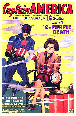 Captain America (serial) - Image: Captain america serial poster