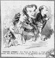 """Caricature """"nos chanteurs"""" in 'Les noces de Figaro' at the Théâtre Lyrique 1858 - illustration de presse - Gallica.jpg"""