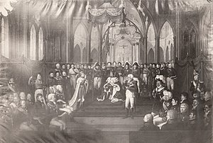 1818 in Sweden - Carl Johans kroning 7 September 1818 Coronation of general Jean Baptiste Bernadotte as king Karl III Johan of Norway (1818) (2718923409)