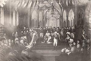 1818 in Sweden - Carl Johans kroning 7 September 1818 Coronation of general Jean Baptiste Bernadotte as king Karl III Johan of Norway (1818) (2718923409)