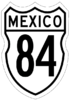 Federal Highway 84 shield