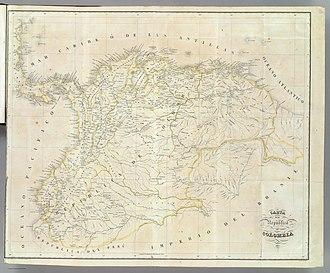 Subdivisions of Gran Colombia - Image: Carta de la República de Gran Colombia