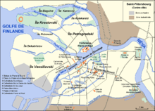 saint-petersbourg-carte - Photo