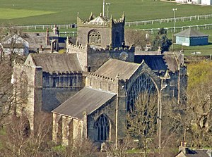 Cartmel Priory - Image: Cartmel Priory from East 27.03.17