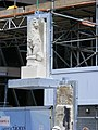 Carved Egyptian style stone Lions arrive at 1 New Change EC4.jpg