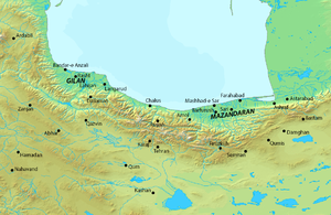 Mir-i Buzurg - Map of northern Iran.