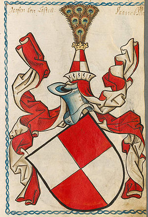 Counts of Castell - Coat of Arms of family from Scheiblersches Wappenbuch
