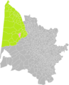 Castelnau-de-Médoc (Gironde) dans son Arrondissement.png